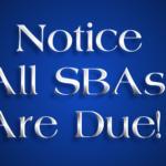 SBAs Due